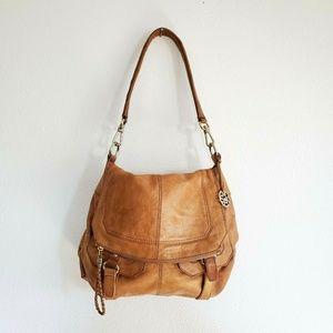 The Sak Silverlake Flap Leather Shoulder Handbag